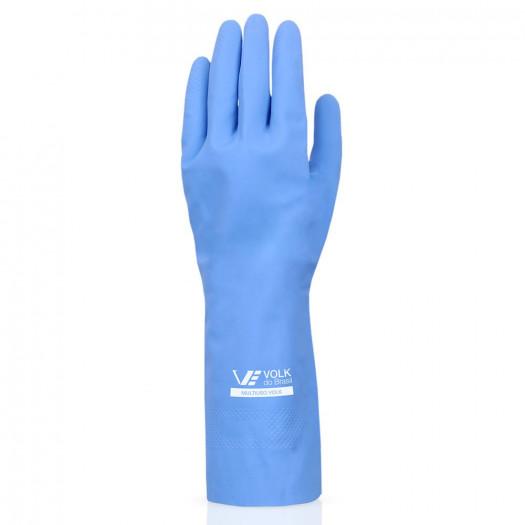 Luva Látex Multiuso Azul Vol do Brasil