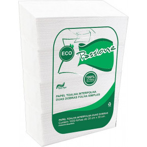 Papel Toalha Interfolhado - Eco Passione Folha Simples - Mister Papel