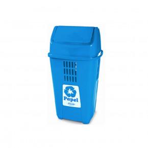 Lixeira azul de 50 litros plasvale