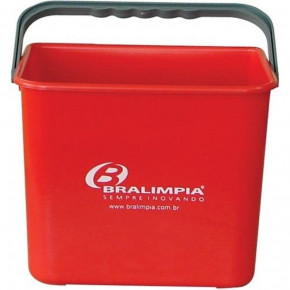 balde bralimpia 4 litros foto frontal vermelho