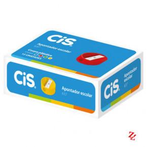 Apontador Escolar 637 - 12 unidades Coloridas - Cis