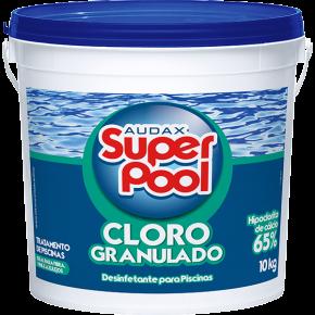embalagem cloro granulado super pool 10KG audax