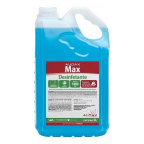 desinfetante max talco audax embalagem 5 litros azul