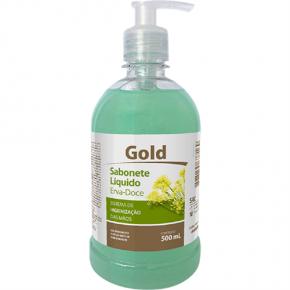 embalagem sabonete liquido erva doce 500ml gold audax