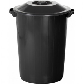 lixeira de 35 litros preta com tampa
